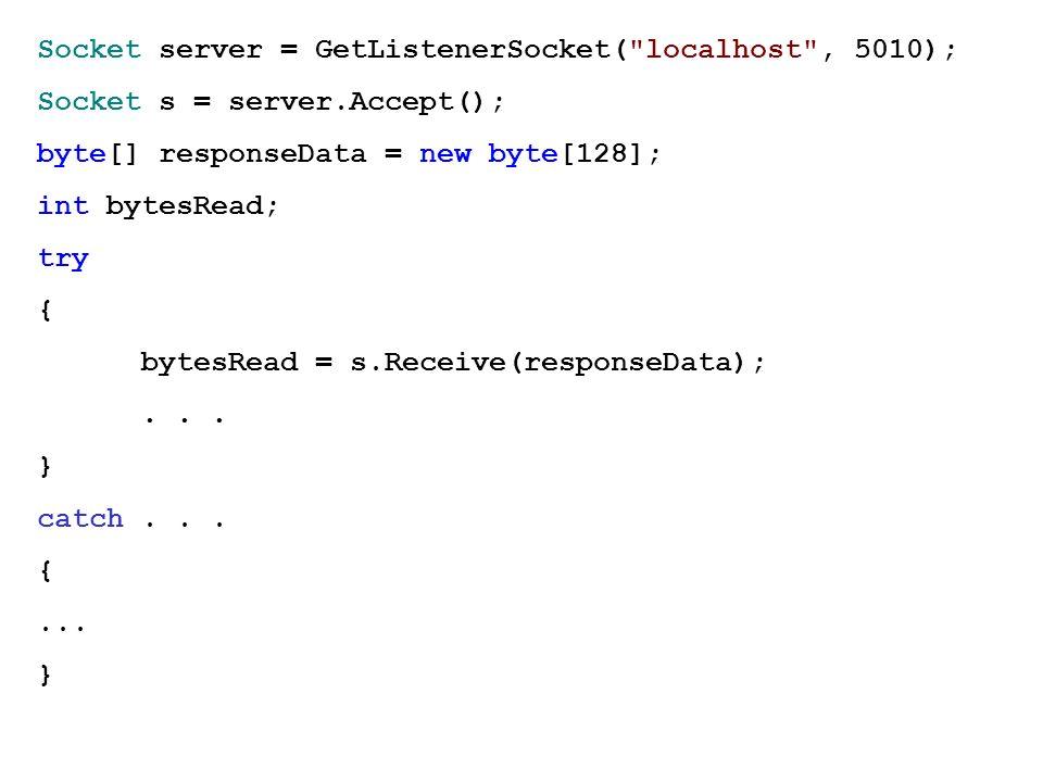 Socket server = GetListenerSocket(