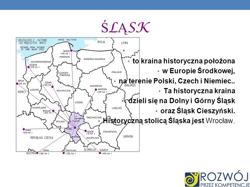 to kraina historyczna położona w Europie Środkowej, na terenie Polski, Czech i Niemiec.. Ta historyczna kraina dzieli się na Dolny i Górny Śląsk oraz