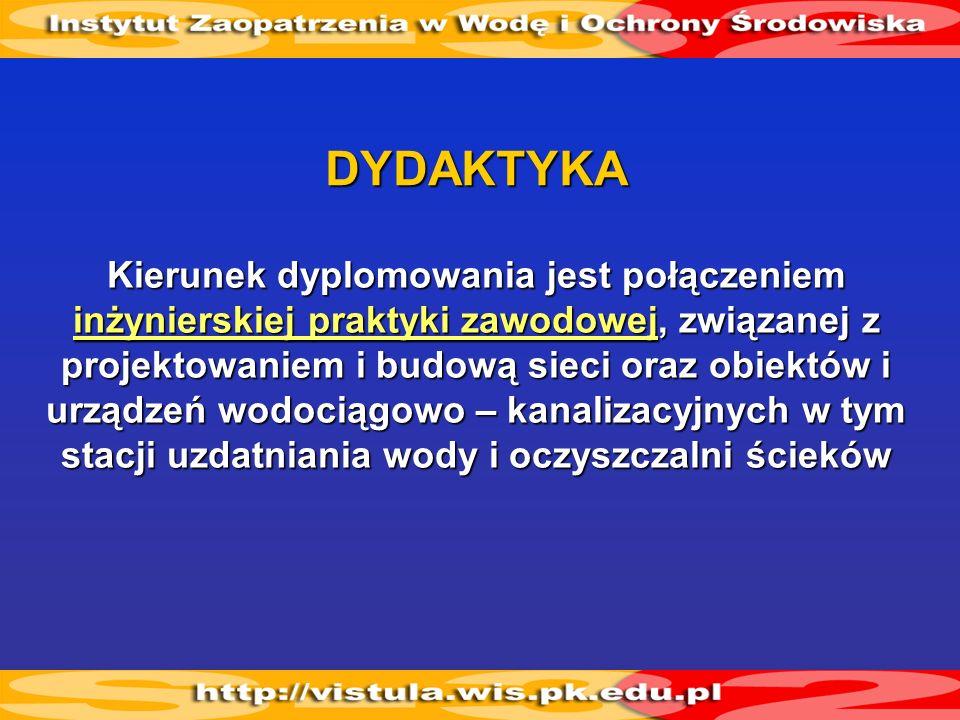 Sieci i zbiorników wodociągowych i kanalizacyjnych Instalacji sanitarnych (wod.