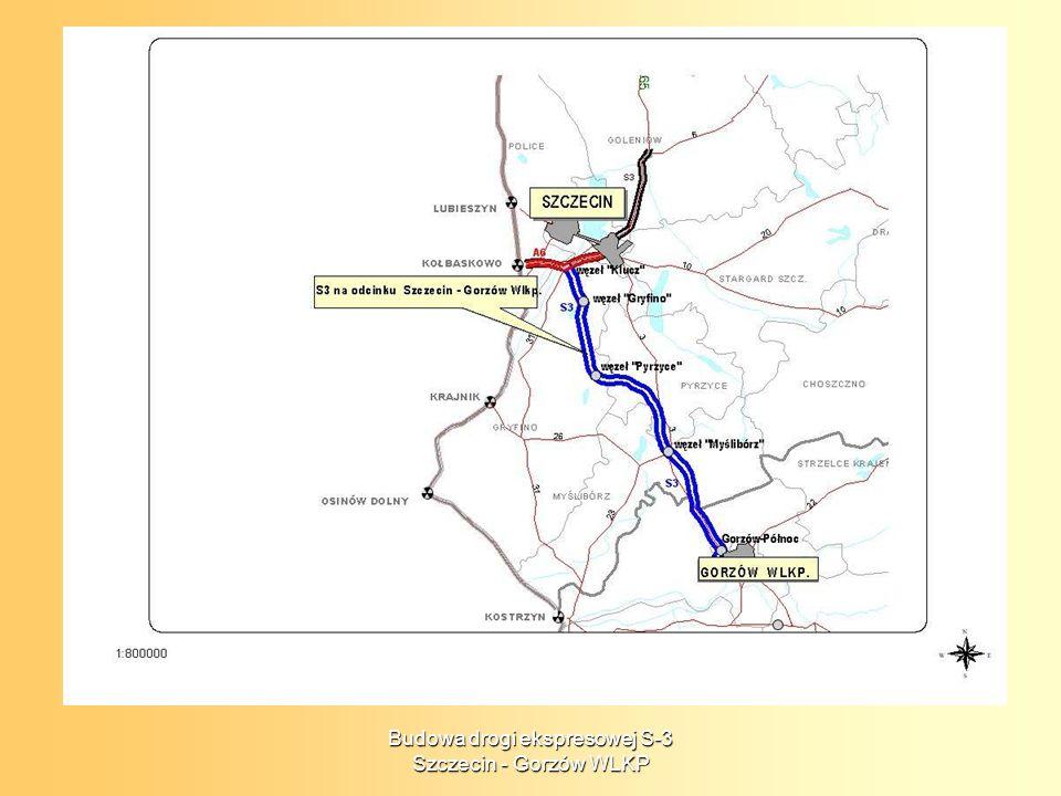Termin realizacji projektu Okres realizacji: 2006 - 2009 Zakres rzeczowy projektu 81,6 km w tym: odc.