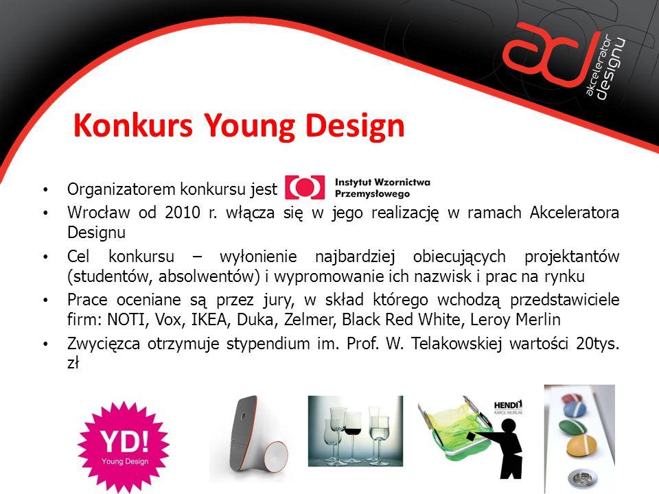 Konkurs Young Design Organizatorem konkursu jest Wrocław od 2010 r.