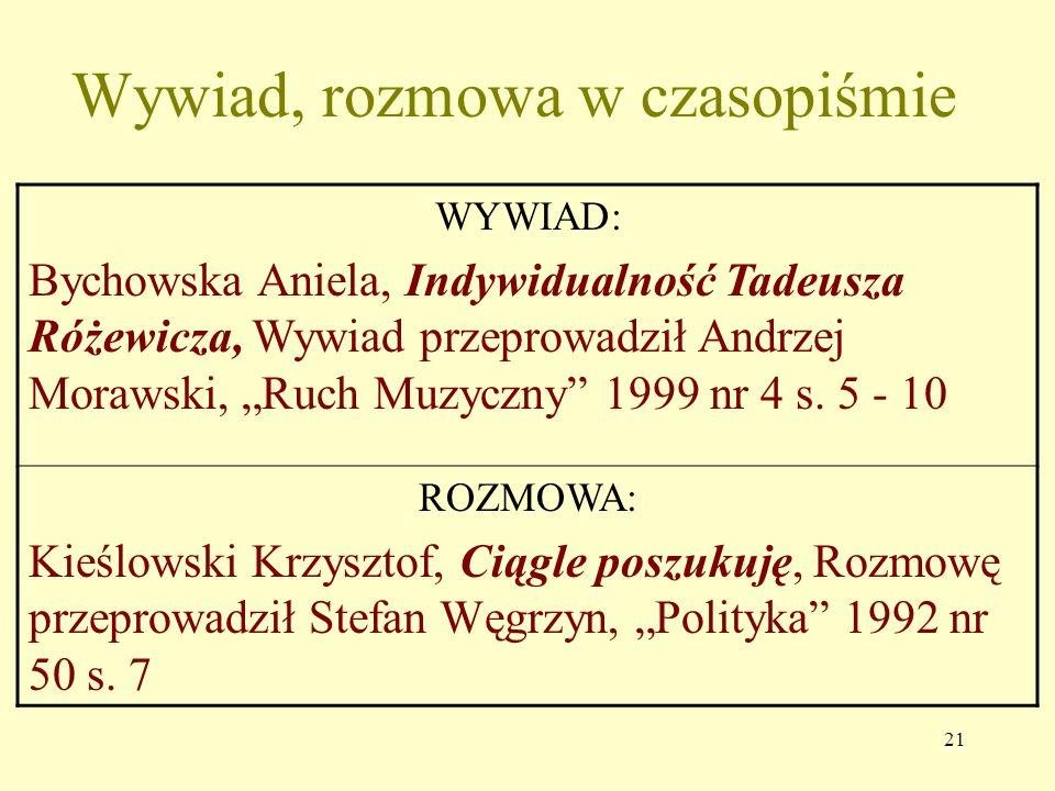 20 Recenzja w czasopiśmie KSIĄŻKI: Szymański Mirosław, Młodzież wobec wartości, Warszawa 2000, Rec. Maria Chymuk, Nowa Szkoła 2001 nr 10 s. 11 - 15 SZ