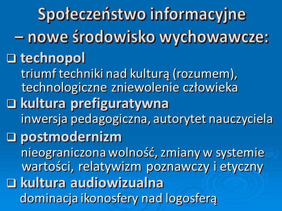 mowa (ok. 50 tys. lat temu) pismo (ok. 5,5 tys. lat temu) druk (J. Gutenberg, 1049/1445) telegraf (S. F. B. Morse, 1837) radio (G. Marconi, 1894) tele