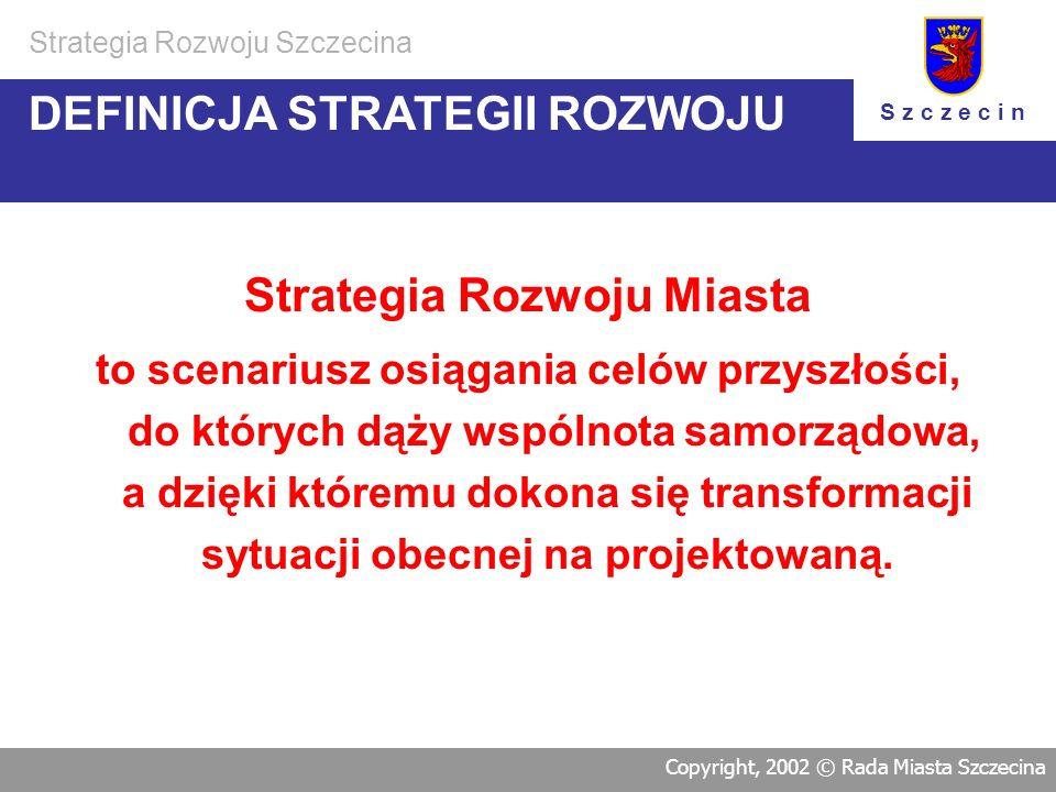 Strategia Rozwoju Szczecina Copyright, 2002 © Rada Miasta Szczecina www.szczecin.pl/strategia/