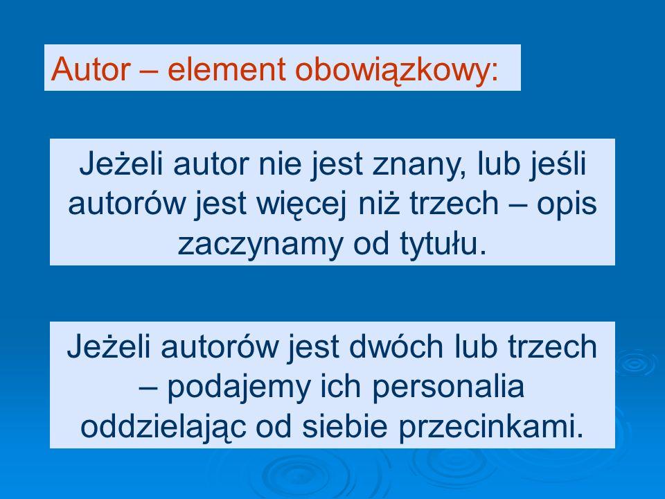 Można zamiast imienia podać tylko inicjał, jeżeli nie utrudni to identyfikacji osoby, np. Lutosławski W. - to: Lutosławski Wincenty czy Witold? Autor