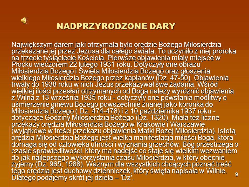 10 NADPRZYRODZONE DARY C.D Św.