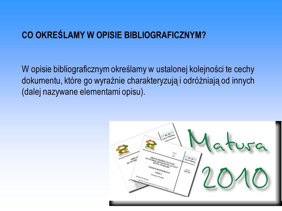 WZÓR OPISU BIBLIOGRAFICZNEGO FRAGMENTU PRACY ZBIOROWEJ Polska Jana Długosza, red.