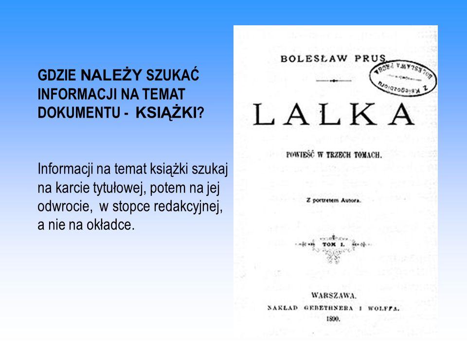 ŹRÓDŁA: Bibliografia załącznikowa i przypisy.Biblioteka w Szkole 2004 nr 11, s.