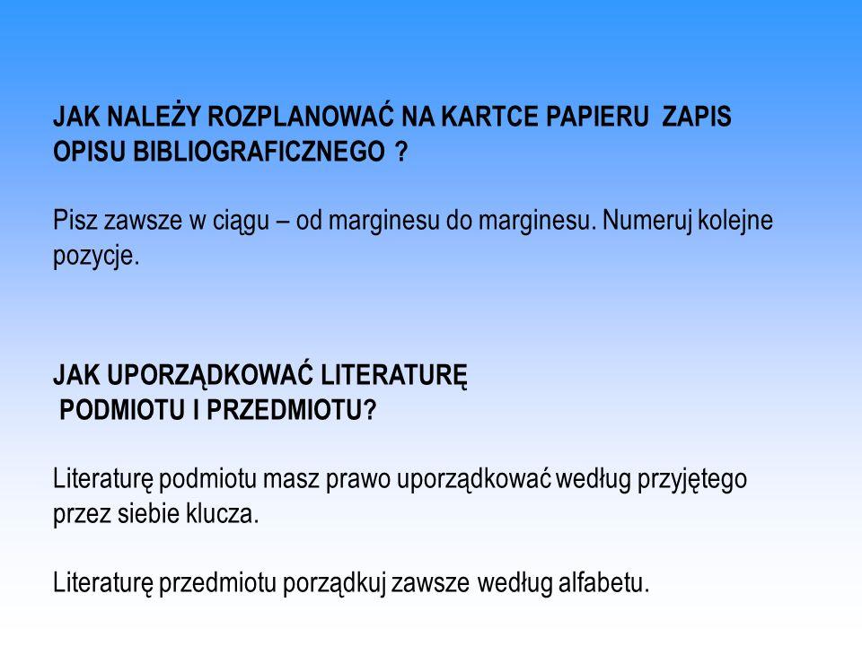 WZÓR OPISU BIBLIOGRAFICZNEGO KSIĄŻKI NA NOŚNIKU ELEKTRONICZNYM Kopaliński Władysław, Słownik wyrazów obcych i zwrotów obcojęzycznych, [CD-ROM], wersja 1.0.3.16, Łódź, PRO- media CD, 1998, aktualizowane w dniu 25.11.1998, ISBN 83-7231-731-3.