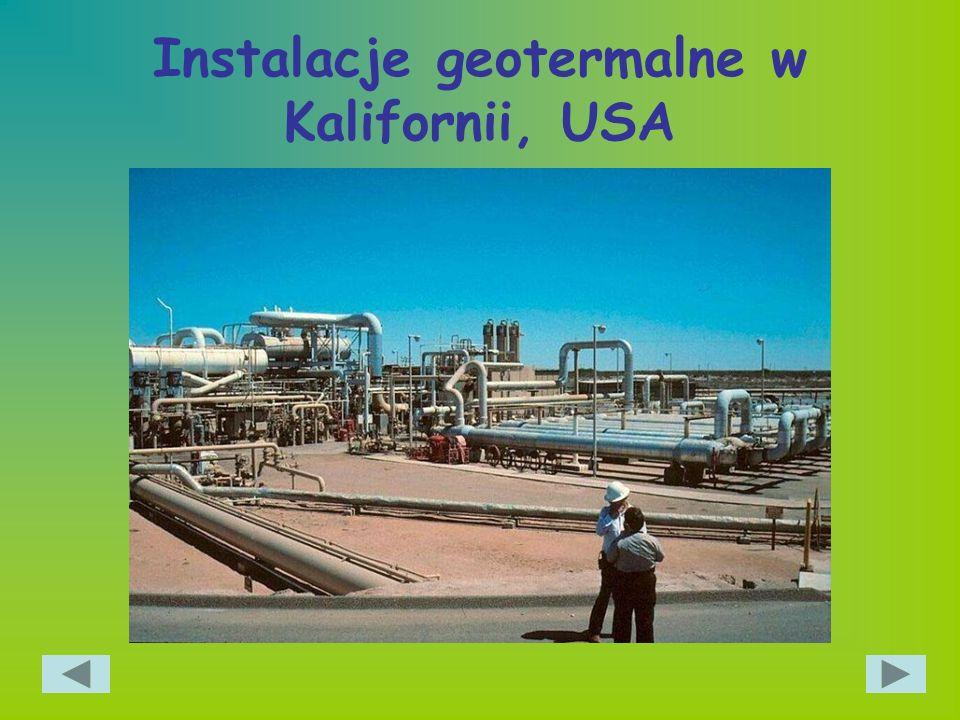 Instalacje geotermalne w Kalifornii, USA