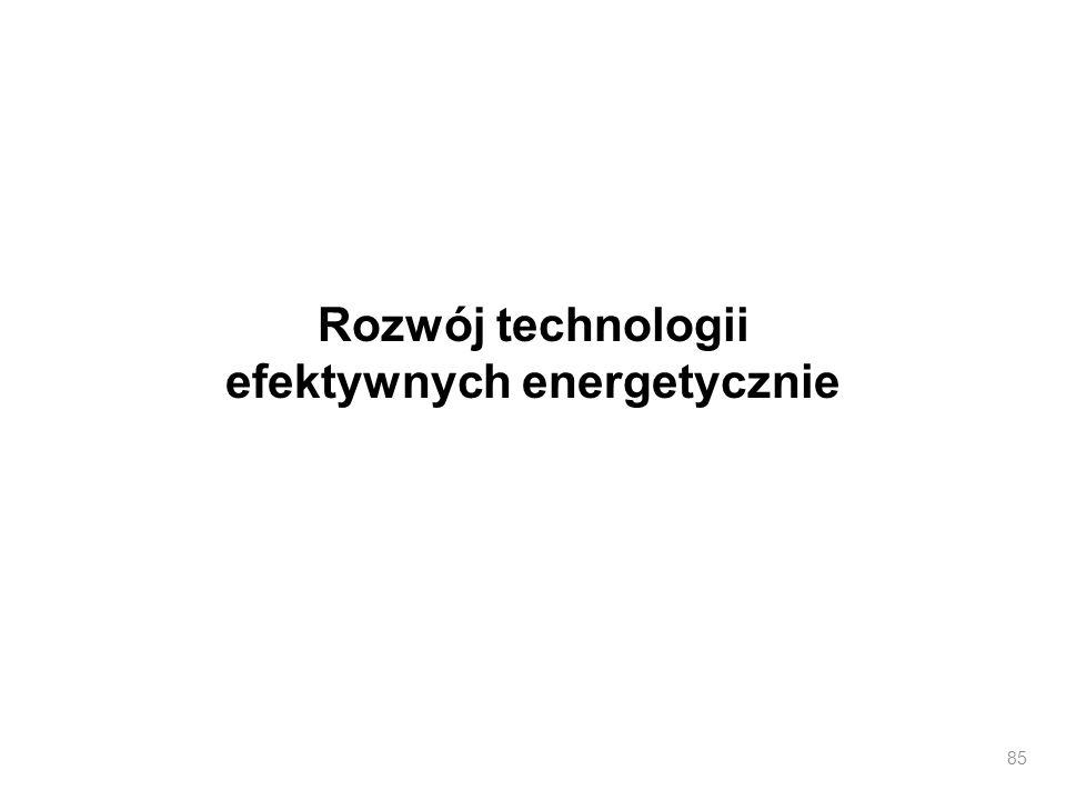 Rozwój technologii efektywnych energetycznie 85