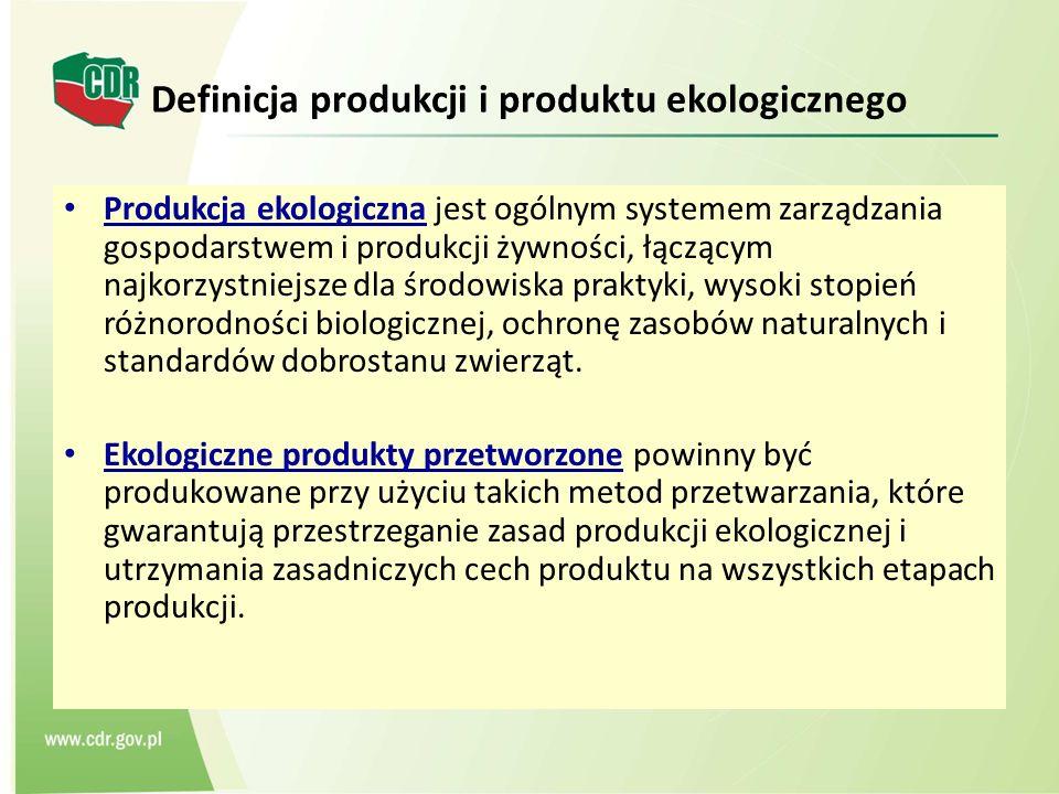 Definicja produkcji i produktu ekologicznego Produkcja ekologiczna jest ogólnym systemem zarządzania gospodarstwem i produkcji żywności, łączącym najk