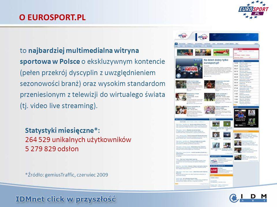 to najbardziej multimedialna witryna sportowa w Polsce o ekskluzywnym kontencie (pełen przekrój dyscyplin z uwzględnieniem sezonowości branż) oraz wys