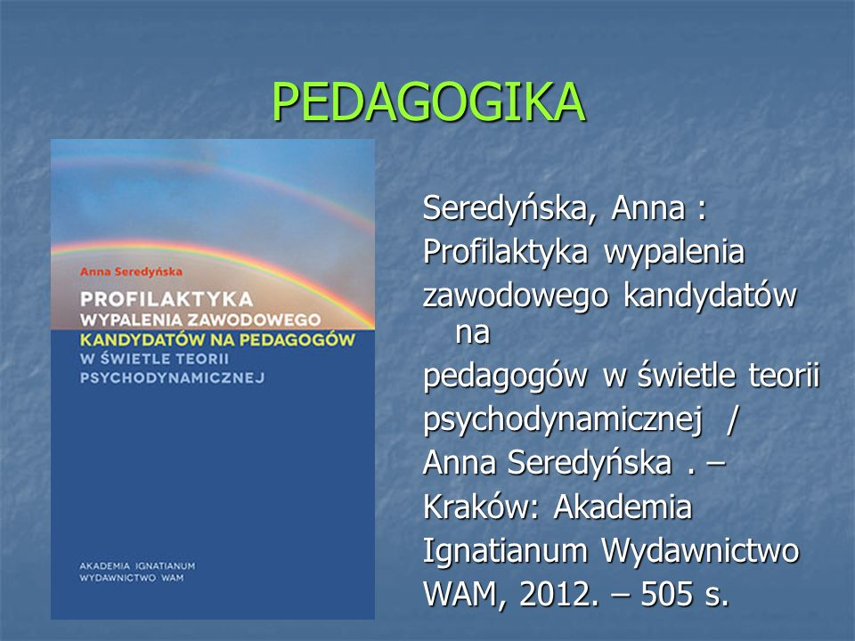 PEDAGOGIKA Andrychowska Biegacz, Jadwiga : Sztuka.