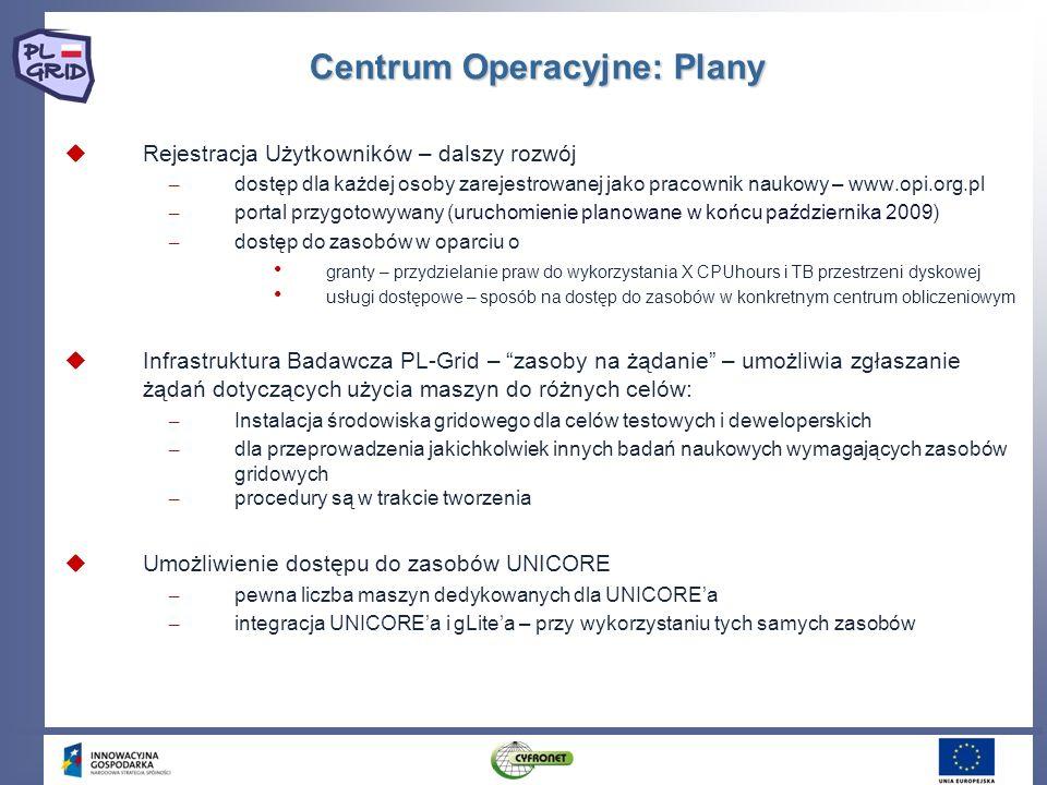 Centrum Operacyjne: Plany Rejestracja Użytkowników – dalszy rozwój – dostęp dla każdej osoby zarejestrowanej jako pracownik naukowy – www.opi.org.pl –