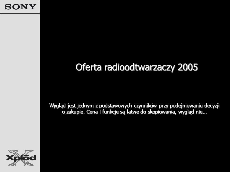 Oferta radioodtwarzaczy 2005 Wygląd jest jednym z podstawowych czynników przy podejmowaniu decyzji o zakupie.