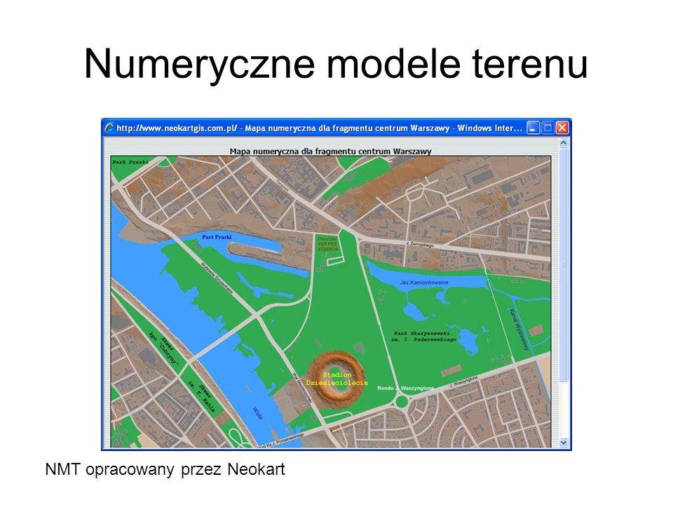Numeryczne modele terenu NMT opracowany przez Neokart