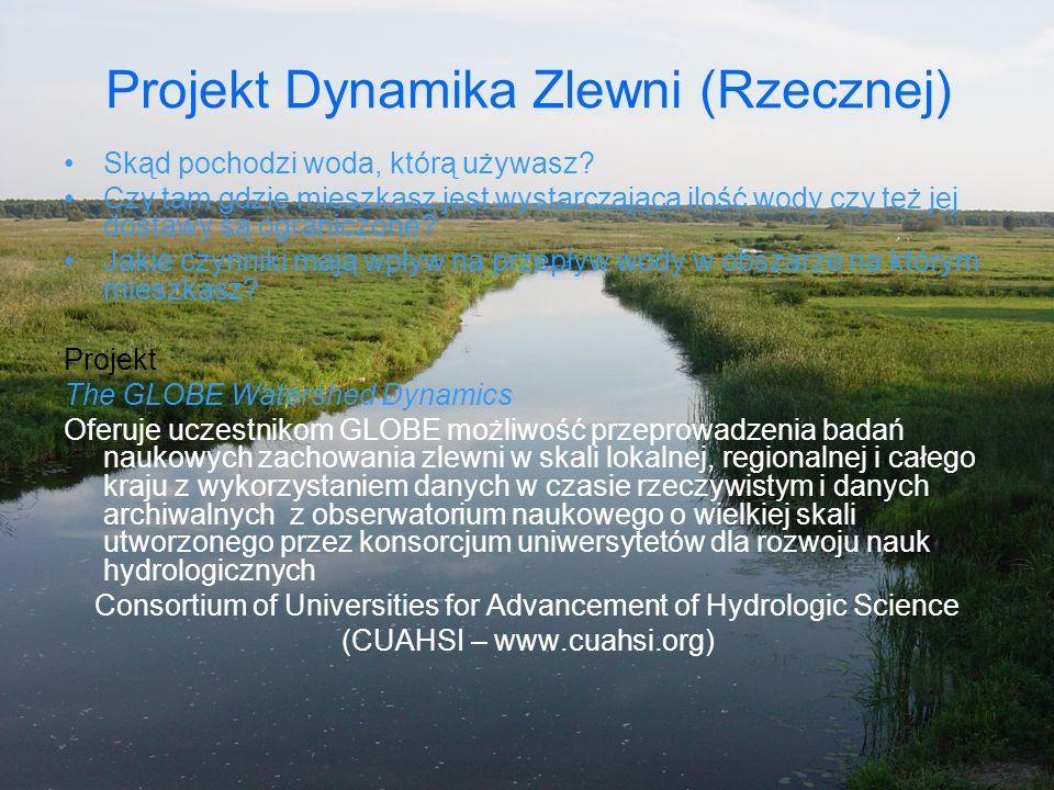 Projekt Dynamika Zlewni (Rzecznej) Skąd pochodzi woda, którą używasz? Czy tam gdzie mieszkasz jest wystarczająca ilość wody czy też jej dostawy są ogr