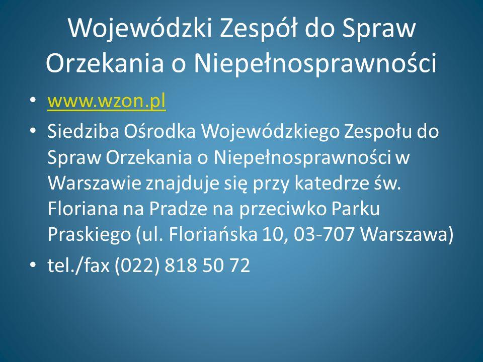 Powiatowe Zespoły do Spraw Orzekania o Niepełnosprawności Ciechanów Garwolin Gostynin Grodzisk Maz.