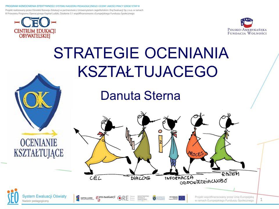 Więcej o ocenianiu kształtującym: 42 Na stronie: www.ceo.org.pl./ok Pytanie do eksperta Skarbiec OK Materiały dla nauczycieli W publikacjach Akademii SUS: Jak oceniać, aby uczyć P.