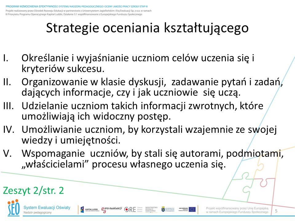 Techniki pozyskiwania informacji druga strategia karty ABCD światła zdania podsumowujące pytania uczniów 16