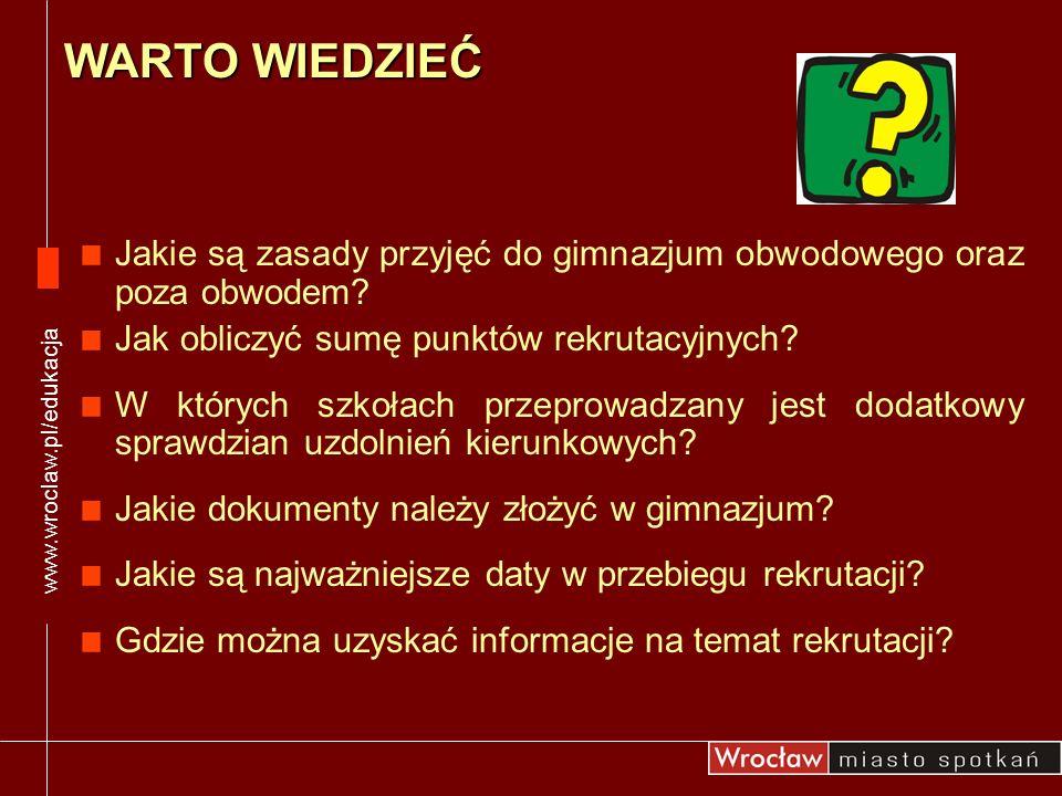 SZKOLNE OŚRODKI KARIERY INFORMACJE O REKRUTACJI Gimnazjum nr 4 ul.