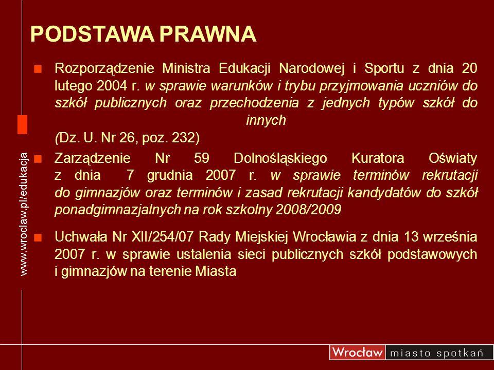 Rozporządzenie Ministra Edukacji Narodowej i Sportu z dnia 20 lutego 2004 r. w sprawie warunków i trybu przyjmowania uczniów do szkół publicznych oraz
