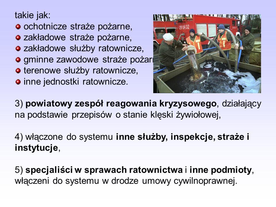 Do zadań gminy (Wójta, Burmistrza lub Prezydenta miasta) w zakresie KSRG należy: realizacja ustalonych przez wojewodę zadań w zakresie KSRG, udział w inspekcji gotowości do działań ratowniczych przeprowadzanych przez organy inspekcyjne PSP w jednostkach OSP włączonych do KSRG, bieżąca współpraca ze starostwem powiatu oraz komendantem powiatowym (miejskim) PSP w zakresie ochrony przeciwpożarowej oraz zapobiegania innym nadzwyczajnym zagrożeniom życia i zdrowia ludzi lub środowiska na obszarze gminy, współudział w opracowywaniu planów ratowniczych powiatu w części dotyczącej obszaru gminy,