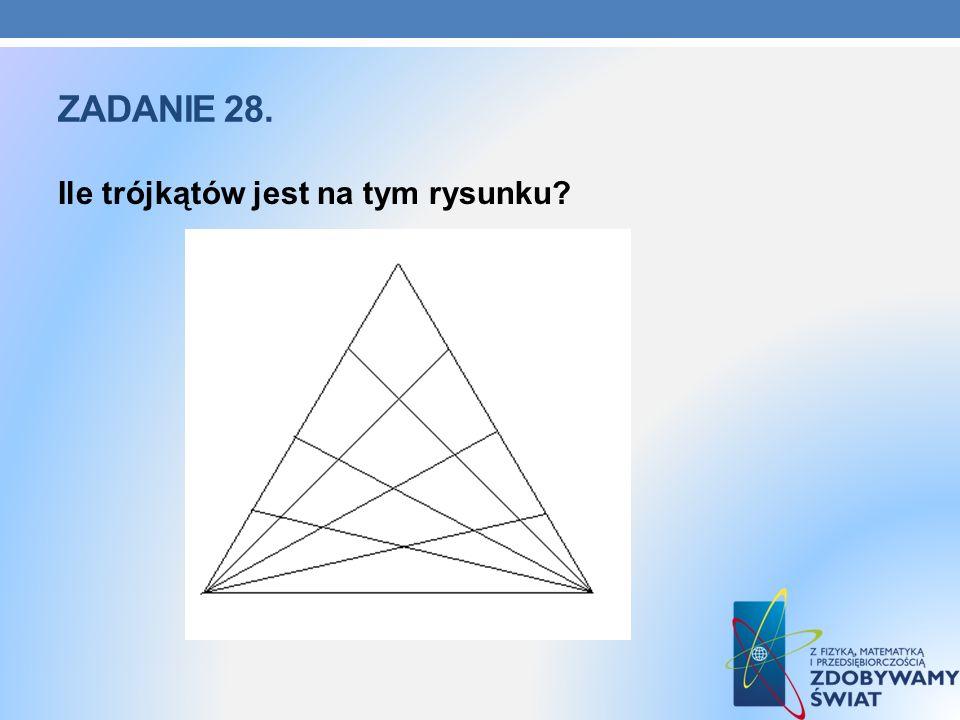 ZADANIE 28. Ile trójkątów jest na tym rysunku?