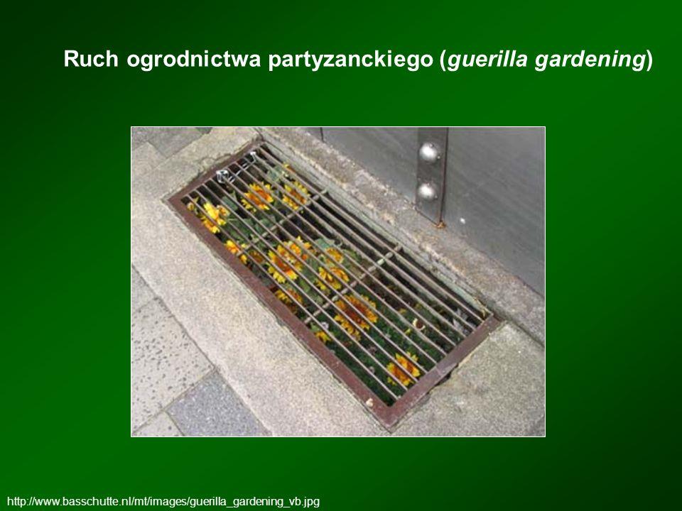Ruch ogrodnictwa partyzanckiego (guerilla gardening) http://www.basschutte.nl/mt/images/guerilla_gardening_vb.jpg
