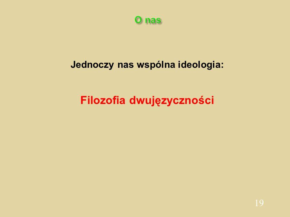 19 O nas Jednoczy nas wspólna ideologia: Filozofia dwujęzyczności