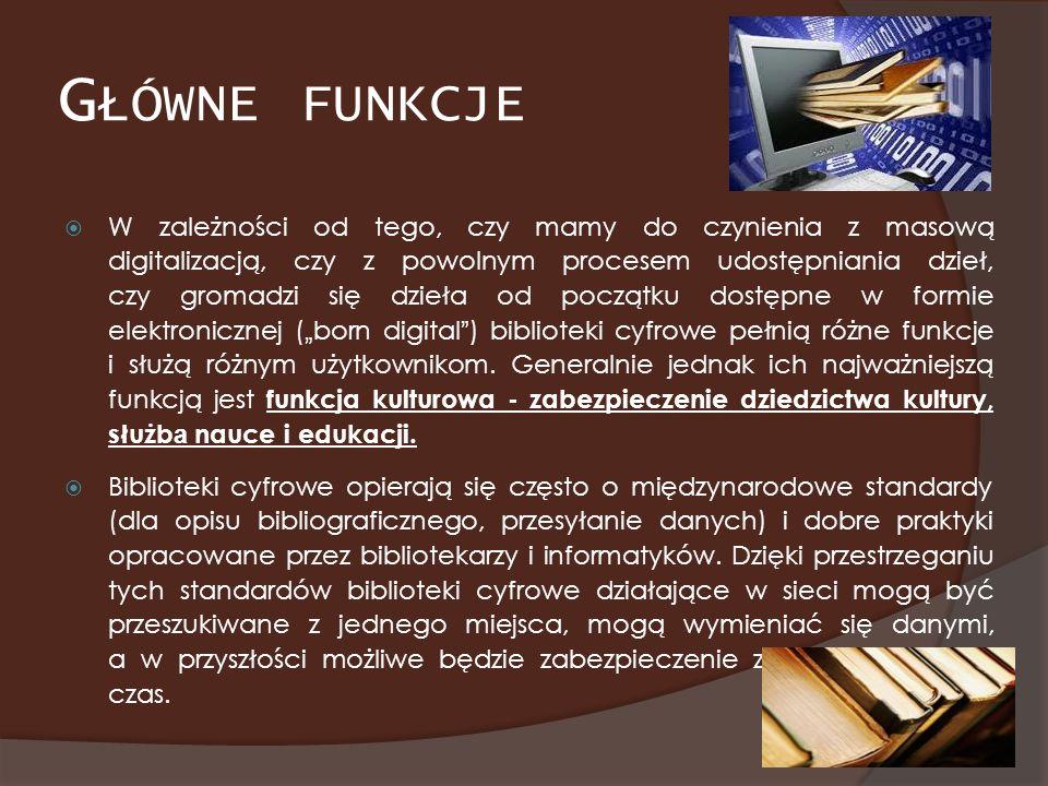 E-KOLEKCJA CZASOPISM POLSKICH Projekt, którego celem jest zapewnienie powszechnego dostępu do poczytnych i rzadkich tytułów prasy polskiej i polskich czasopism naukowych, dzięki przeniesieniu ich na nośniki cyfrowe i umieszczeniu w Internecie.