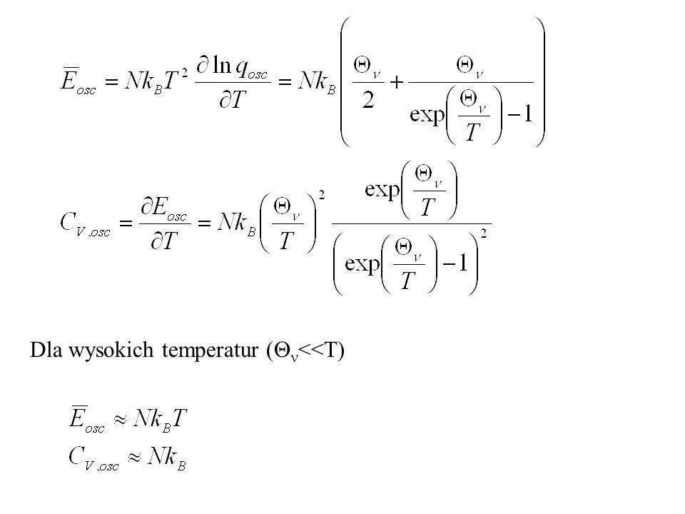 Dla wysokich temperatur ( <<T)