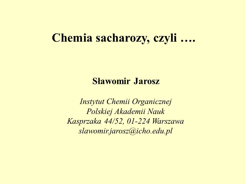 Niewątpliwie najbardziej opłacalnym produktem otrzymywanym z sacharozy z destrukcją szkieletu jest (BIO)ETANOL Biopaliwo C 12 H 22 O 11 C 2 H 5 OH Saccharomyces cerevisiae