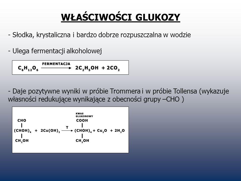 WŁAŚCIWOŚCI GLUKOZY - Inne łagodne utleniacze utleniają glukozę analogiczniej (np.