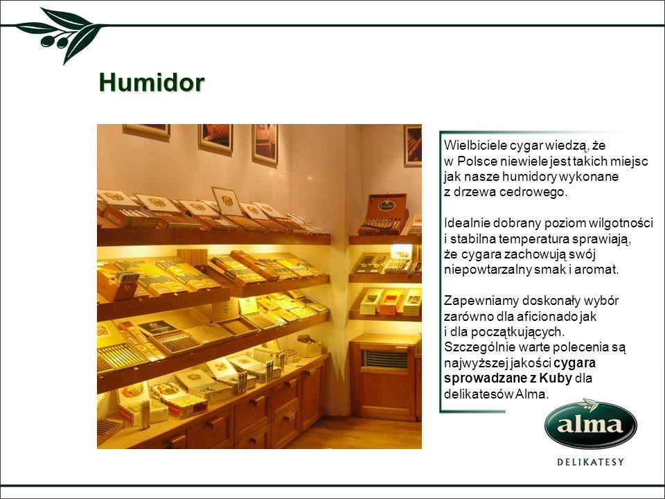 Humidor Wielbiciele cygar wiedzą, że w Polsce niewiele jest takich miejsc jak nasze humidory wykonane z drzewa cedrowego. Idealnie dobrany poziom wilg