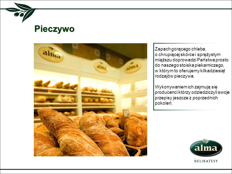 Pieczywo Zapach gorącego chleba, o chrupiącej skórce i sprężystym miąższu doprowadzi Państwa prosto do naszego stoiska piekarniczego, w którym to ofer