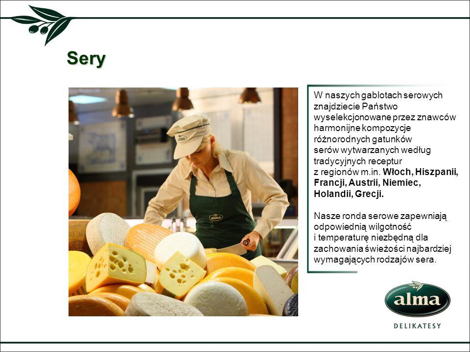 Sery W naszych gablotach serowych znajdziecie Państwo wyselekcjonowane przez znawców harmonijne kompozycje różnorodnych gatunków serów wytwarzanych we