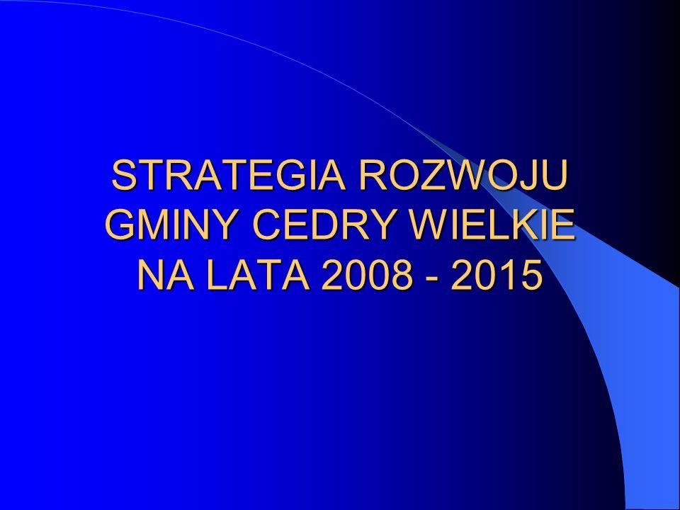 STRATEGIA ROZWOJU GMINY CEDRY WIELKIE NA LATA 2008 - 2015