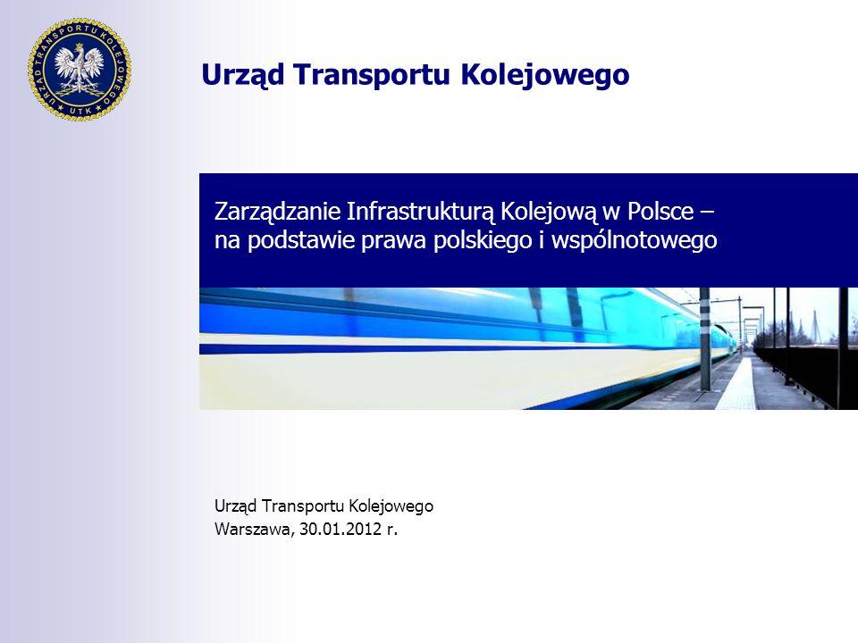 Urząd Transportu Kolejowego Zarządzanie Infrastrukturą Kolejową w Polsce – na podstawie prawa polskiego i wspólnotowego Urząd Transportu Kolejowego Wa