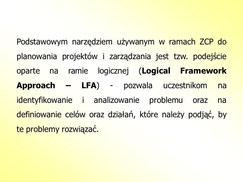 Podstawowym narzędziem używanym w ramach ZCP do planowania projektów i zarządzania jest tzw. podejście oparte na ramie logicznej (Logical Framework Ap