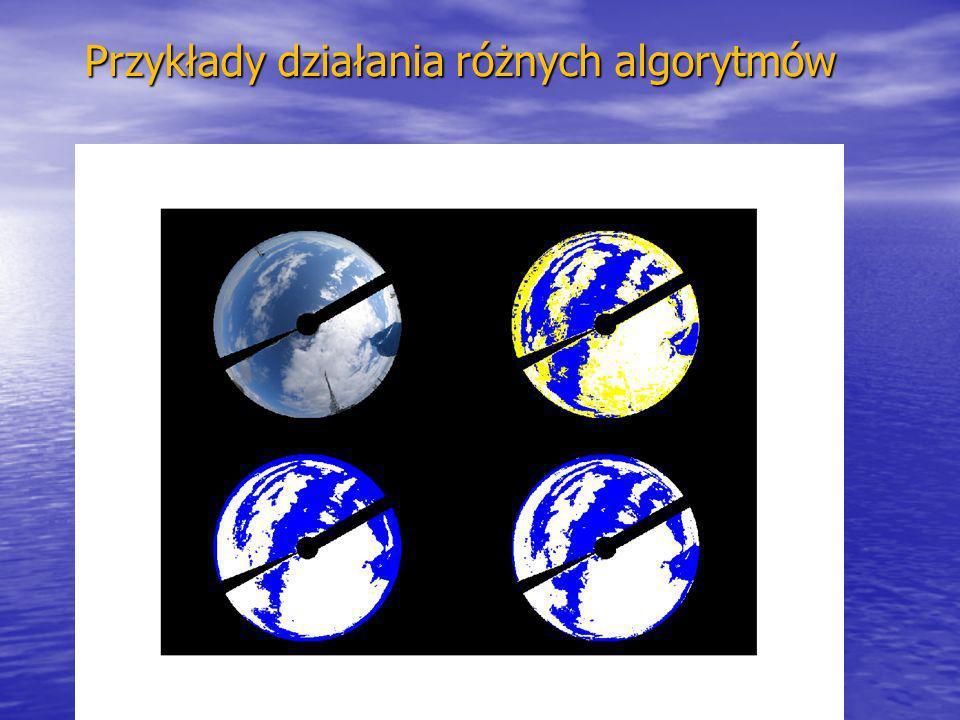 kmark@igf.fuw.edu.pl www.igf.fuw.edu.pl/meteo/stacja Przykłady działania różnych algorytmów