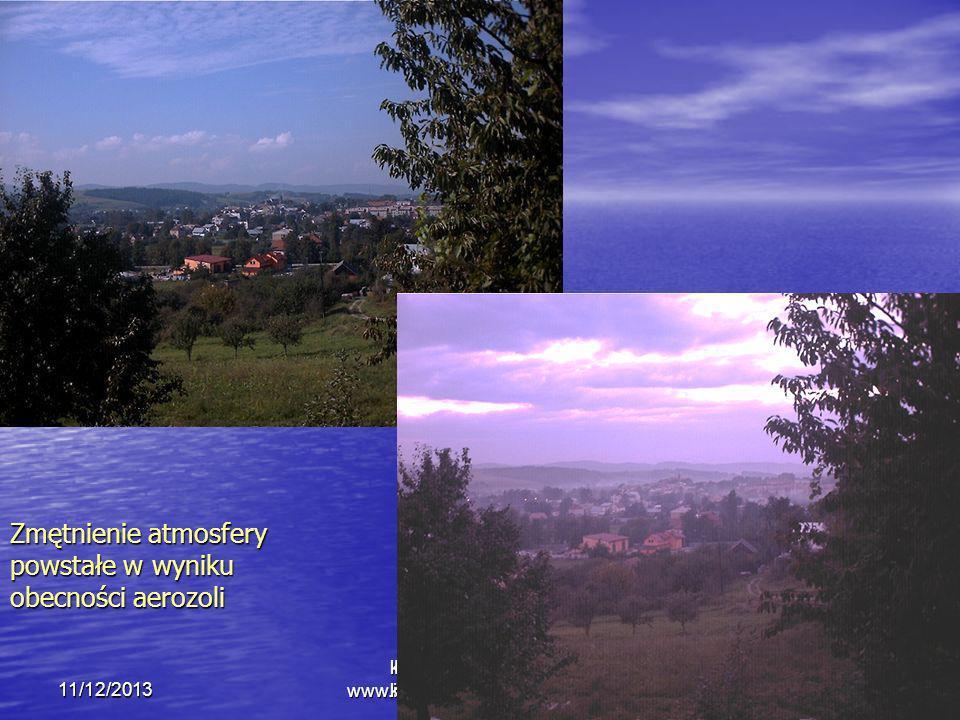 kmark@igf.fuw.edu.pl www.igf.fuw.edu.pl/meteo/stacja11/12/2013 Krzysztof Markowicz kmark@igf.fuw.edu.pl Zmętnienie atmosfery powstałe w wyniku obecnoś