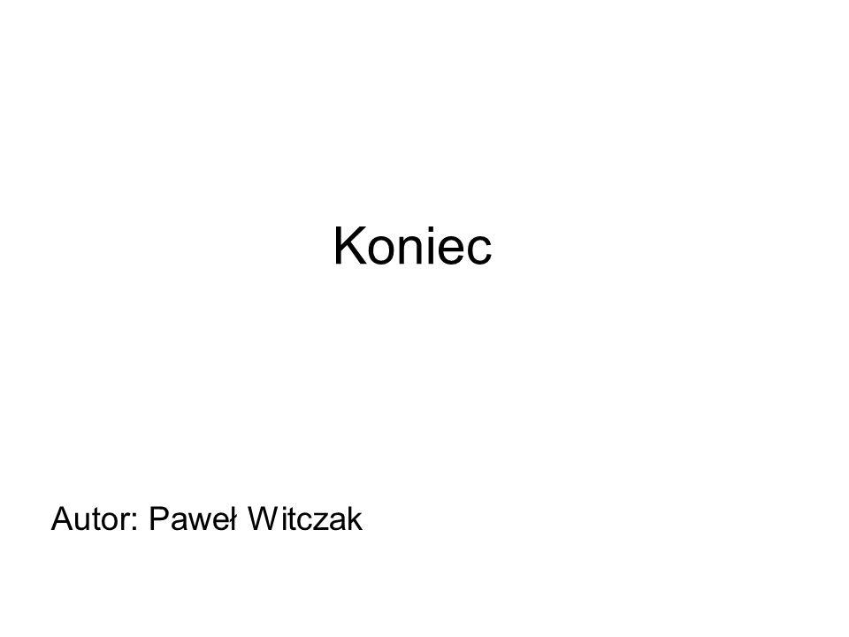 Koniec Autor: Paweł Witczak