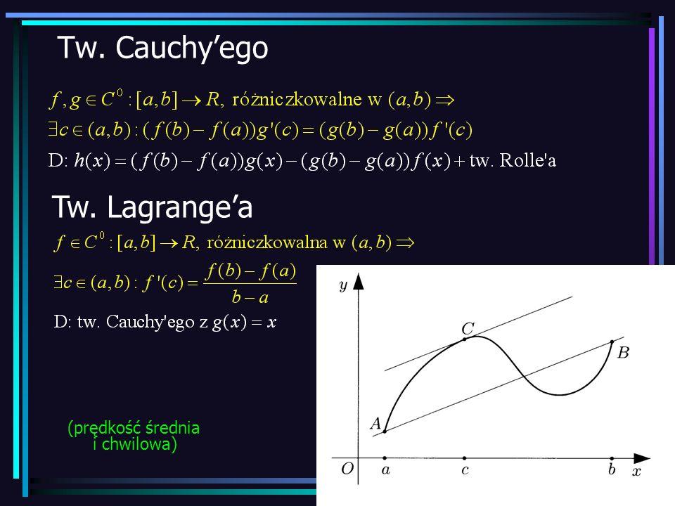 20 Tw. Cauchyego Tw. Lagrangea (prędkość średnia i chwilowa)