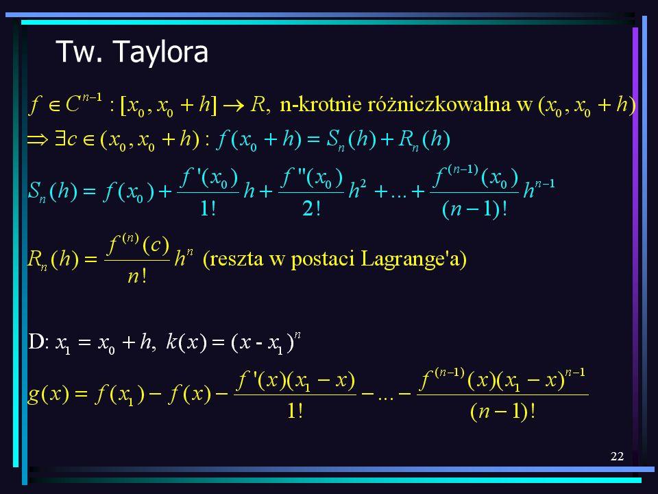 22 Tw. Taylora
