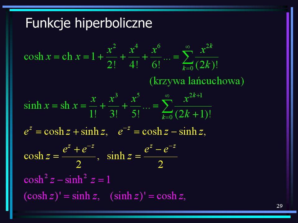 29 Funkcje hiperboliczne