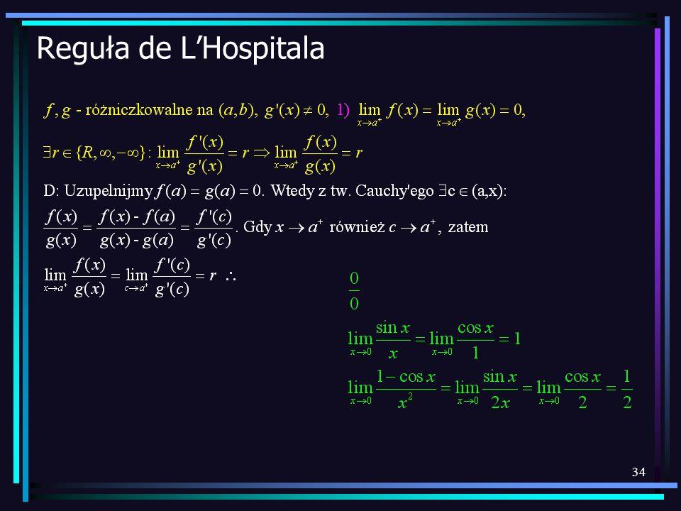34 Reguła de LHospitala