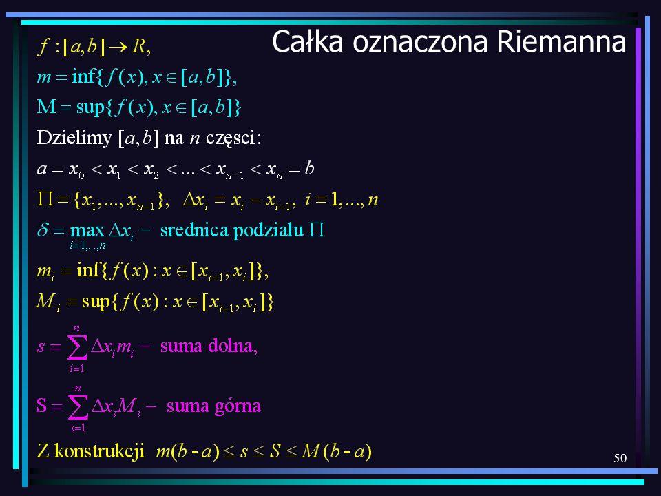 50 Całka oznaczona Riemanna