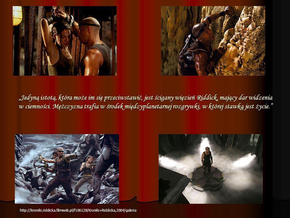 Jedyną istotą, która może im się przeciwstawić, jest ścigany więzień Riddick, mający dar widzenia w ciemności. Mężczyzna trafia w środek międzyplaneta